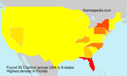 Surname Cianfoni in USA