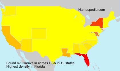 Surname Ciaravella in USA