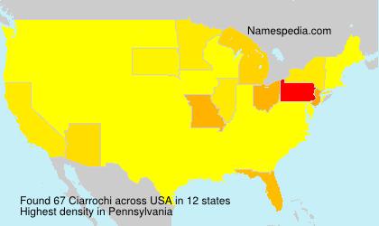 Familiennamen Ciarrochi - USA