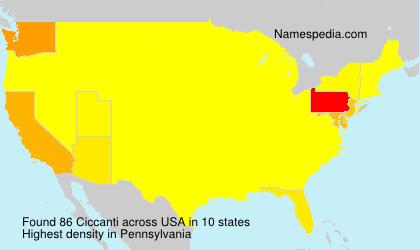 Familiennamen Ciccanti - USA