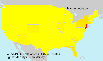 Surname Cicerale in USA