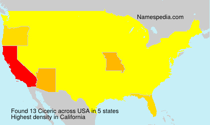 Surname Ciceric in USA