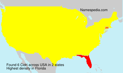 Surname Cidri in USA
