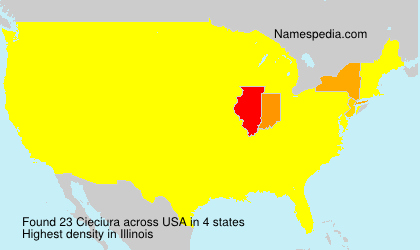 Familiennamen Cieciura - USA
