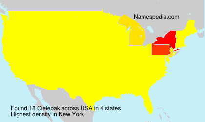 Surname Cielepak in USA