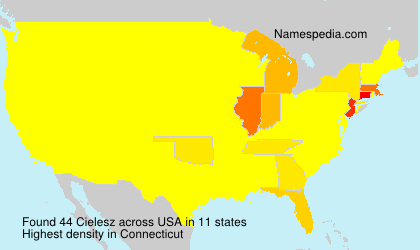 Surname Cielesz in USA