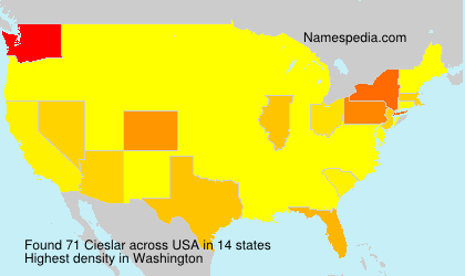 Surname Cieslar in USA
