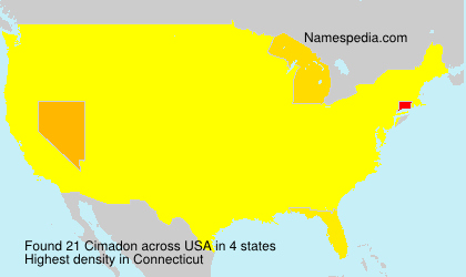 Surname Cimadon in USA