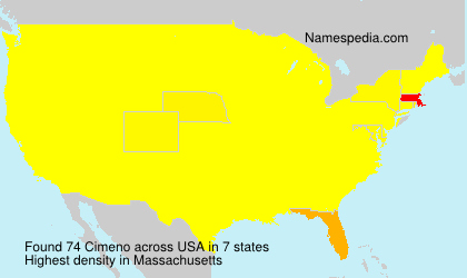 Surname Cimeno in USA