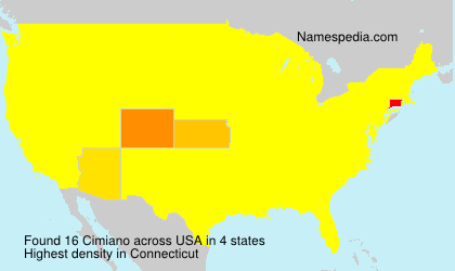 Surname Cimiano in USA