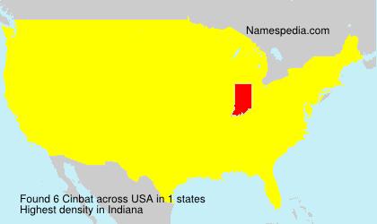 Surname Cinbat in USA