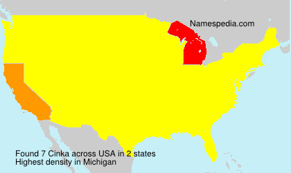 Surname Cinka in USA