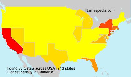 Surname Cinzia in USA