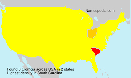 Surname Ciomcia in USA