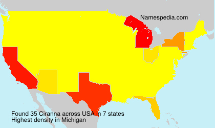 Surname Ciranna in USA