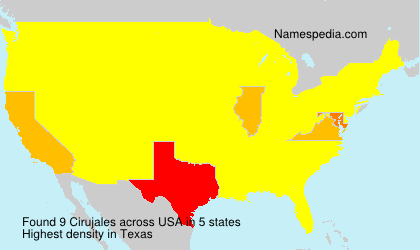 Surname Cirujales in USA