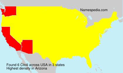 Surname Citoli in USA