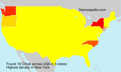 Surname Citrak in USA