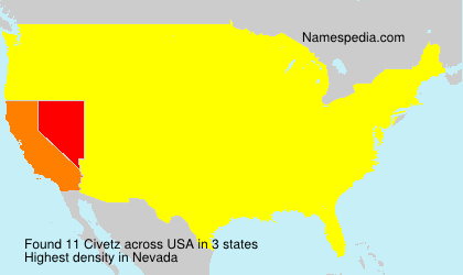 Surname Civetz in USA