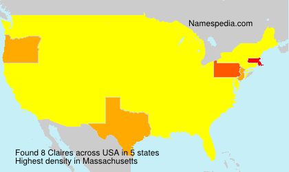 Surname Claires in USA
