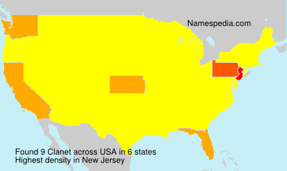 Surname Clanet in USA