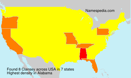 Surname Clansey in USA