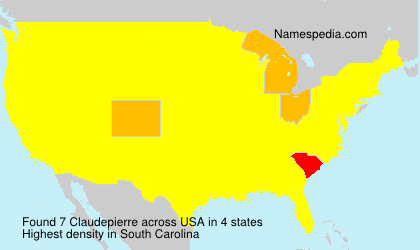 Surname Claudepierre in USA