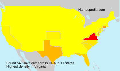 Surname Claveloux in USA