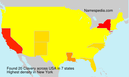 Surname Clavery in USA