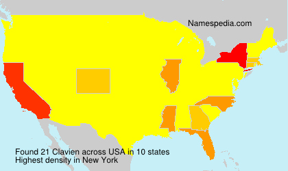 Surname Clavien in USA