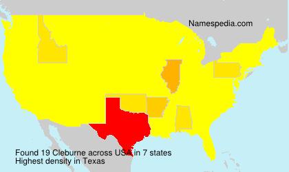 Familiennamen Cleburne - USA