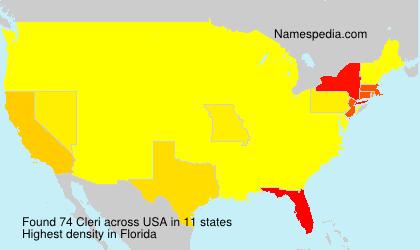 Surname Cleri in USA
