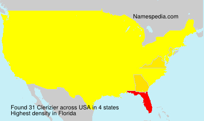 Surname Clerizier in USA