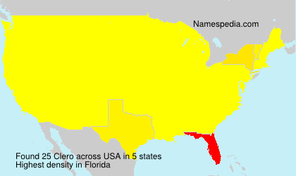 Surname Clero in USA