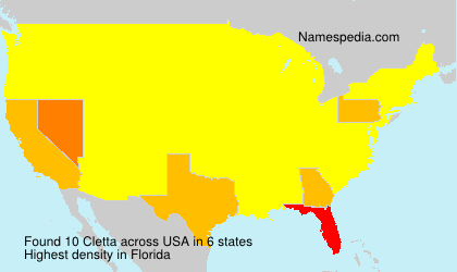 Surname Cletta in USA