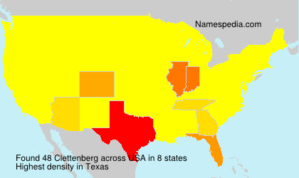 Surname Clettenberg in USA