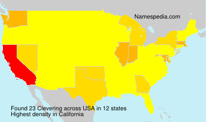 Surname Clevering in USA
