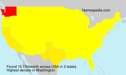 Surname Clintworth in USA