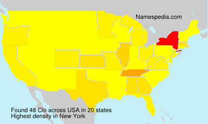 Surname Clo in USA
