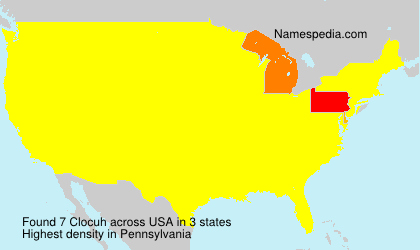 Surname Clocuh in USA