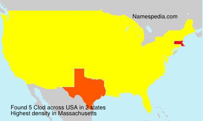 Surname Clod in USA