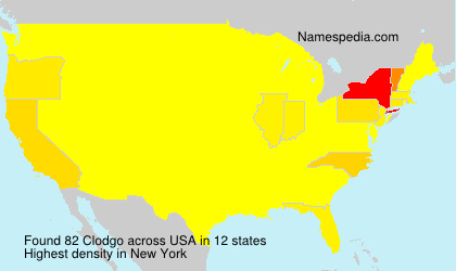 Surname Clodgo in USA
