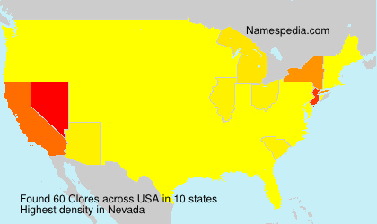 Surname Clores in USA