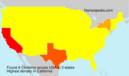 Surname Clorfeine in USA