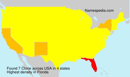 Surname Clorie in USA