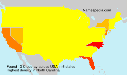 Surname Cluderay in USA