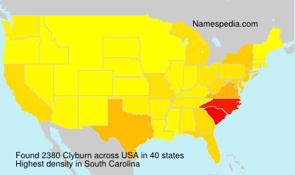 Surname Clyburn in USA