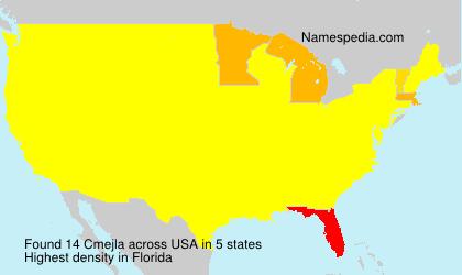 Surname Cmejla in USA