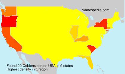 Familiennamen Coblens - USA