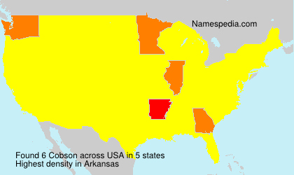 Surname Cobson in USA